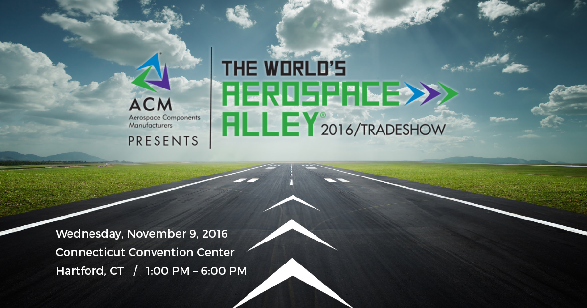 Westminster Tool will be at The Worlds' Aerospace Alley 2016 Tradeshow