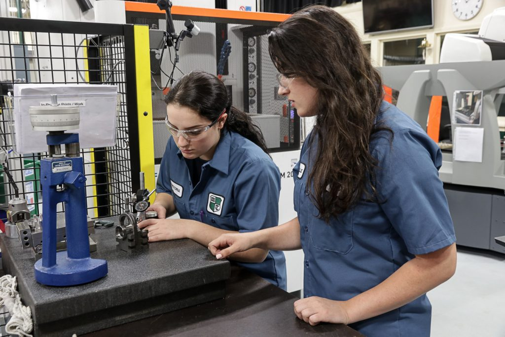 Two female machinists