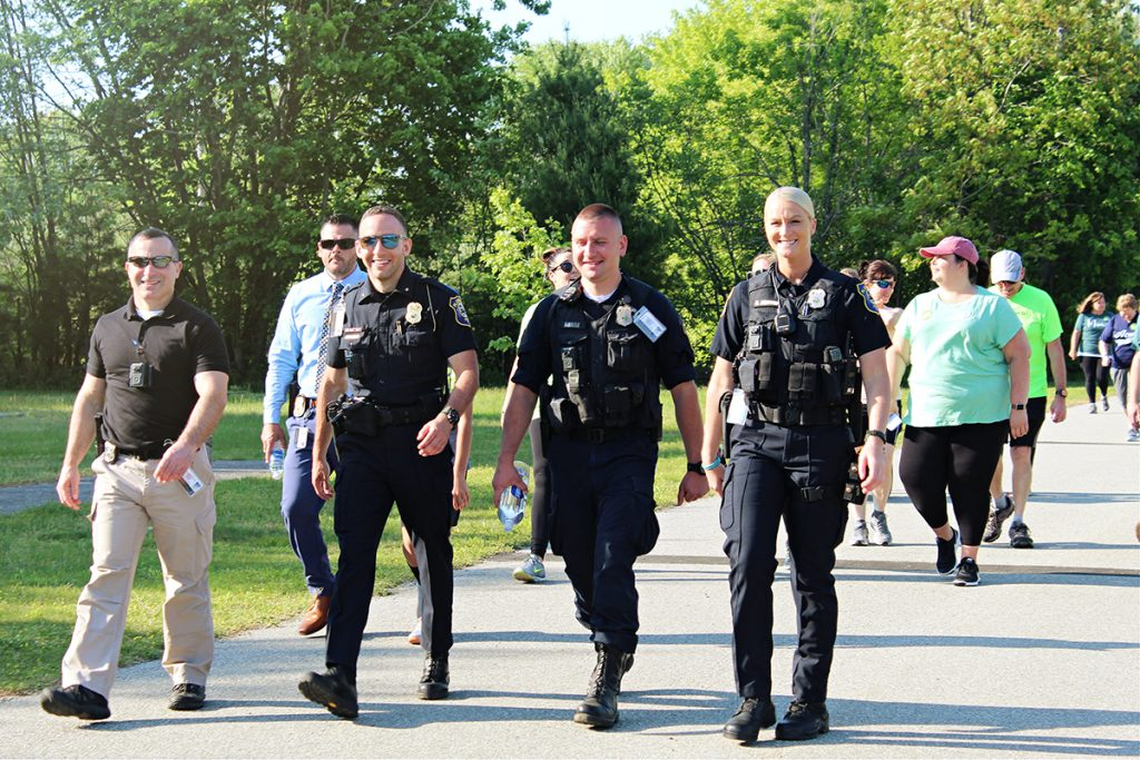 Plainfield Police Department joins the NAMIWalk event on 05/20